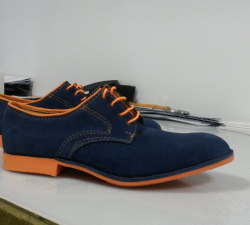 Derby bleu-orange