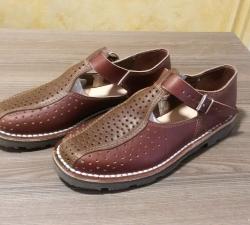 sandales bicolores